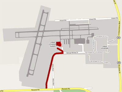 Lewis Airport Map
